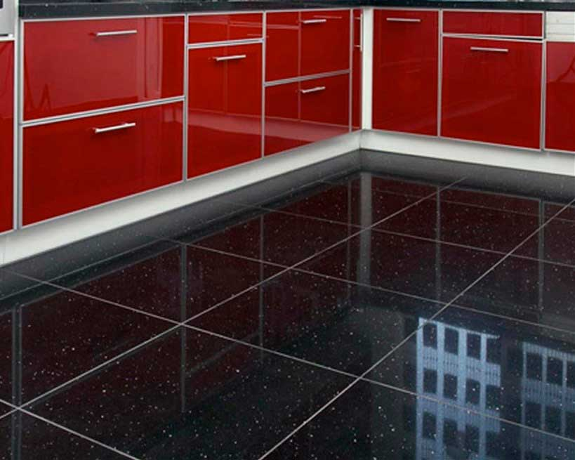 Quartz kitchen floor tiles