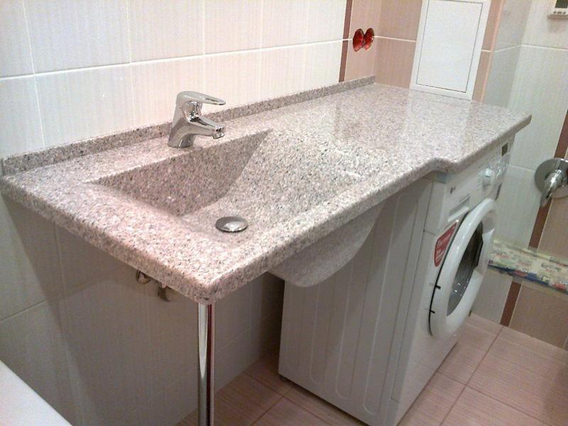 Столешница в ванную комнату из искусственного камня цена спб столешница
